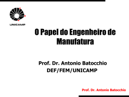 Palestra - Faculdade de Engenharia Mecânica
