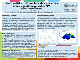 Perfil Radial e Uniformidade de aspersores feitos a partir