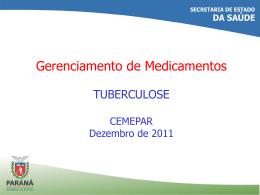 CEMEPAR Medicamentos - Tuberculose