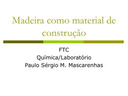 Madeira como material de construção
