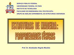 PROPRIEDADES FÍSICAS Prof. Dr. Alcebíades Negrão