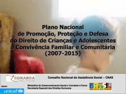 Plano Nacional de Promoção, Proteção e Defesa do
