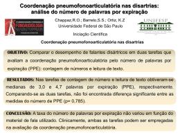 Coordenação pneumofonoarticulatória nas disartrias