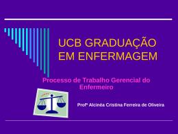 ucb graduação em enfermagem - Universidade Castelo Branco