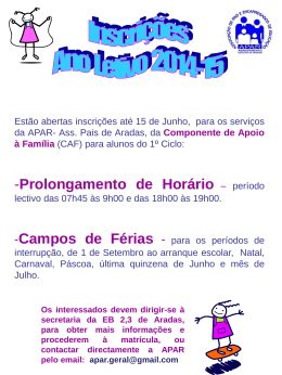 cartaz matriculas
