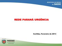 Rede Parana Urgencia - Conselho Estadual de Saúde