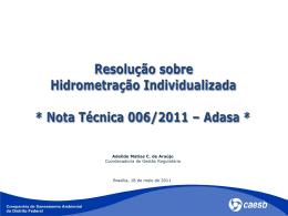 Proposta Adasa X Proposta Caesb Art. 5º (continuação)