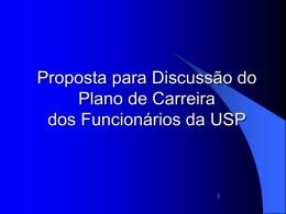 Proposta para Discussão do Plano de Carreira da USP