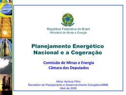 Proposta de Trabalho para MME/EPE Atividade: Planejamento da
