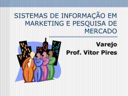 sistemas de informação em marketing e pesquisa de mercado