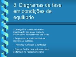 8. Diagramas de fase