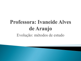 Intensivo e grupo de estudo- Evolução (métodos de estudo)