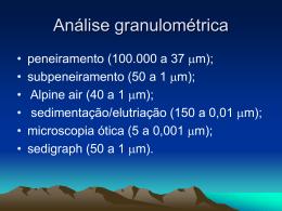 Análise granulométrica