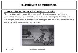 iluminação de emergência
