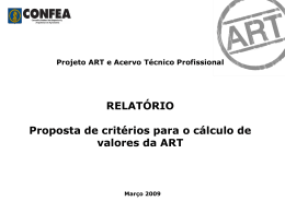 APRES ART valores (GTOE)