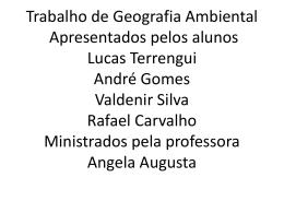 GEOGRAFIA Rafael CArvalho