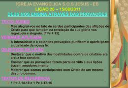 15/08/2011 deus nos ensina através das provações