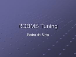RDBMS Tuning