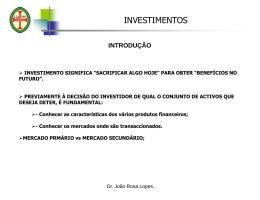 investimentos financeiros do mercado monetário