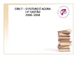 Relatório 2006/2008 - CRB-7