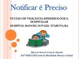 NUCLEO DE VIGILÂNCIA EPIDEMIOLÓGICA