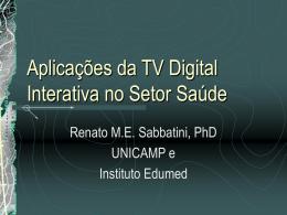 Aplicações da TV Digital no Setor Saúde