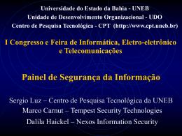 Painel de Segurança da Informação - CPT-UNEB