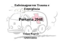 Unidades Não-hospitalares de Atendimento às Urgências e