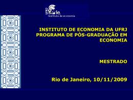 Perfil Geral - Instituto de Economia da UFRJ