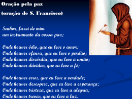 oração s. francisco - Material de Catequese