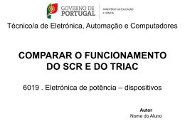 comparar o funcionamento do scr e do triac