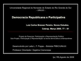 Democracia Republicana e Participativa Luiz