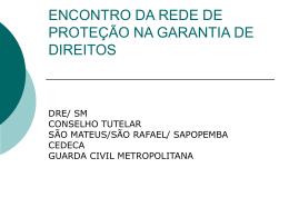 ENCONTRO DA REDE DE PROTEÇÃO NA GARANTIA DE DIREITOS