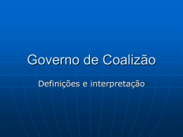 Governo de Coalizão - Capital Social Sul