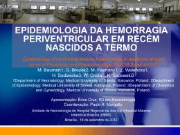 epidemiologia da hemorragia periventricular em recém nascidos a