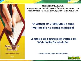Oficina - COAP - Decreto 7508