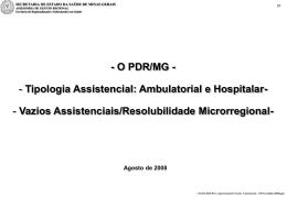 O PDR/MG - Fiocruz