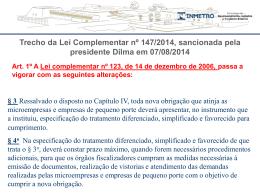 Lei complementar n 147-2014