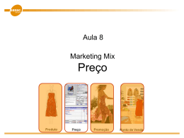 Marketing mix: Preço