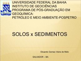 Rocha sedimentar - Universidade Federal da Bahia