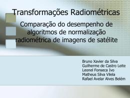 Transformações radiométricas - trabalhos