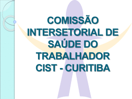 comissão intersetorial de saúde do trabalhador curitiba