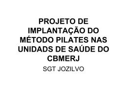 Projeto de Implanta__o do M_todo Pilates nas Unidades de Sa_de
