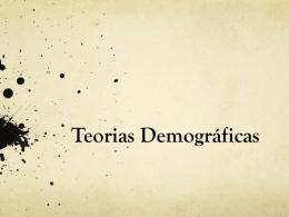 Teorias Demográficas II