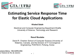Estimating Service Response Time for Elastic Cloud