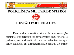 Gest_o participativa - 3ª Policlínica do CBMERJ