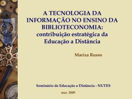 Educação à distância - (LTC) de NUTES