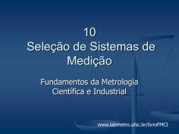 Slide 1 - Laboratório de Metrologia e Automatização