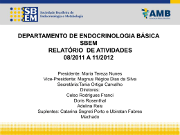 Slide 1 - Sociedade Brasileira de Endocrinologia e Metabologia
