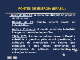 FONTES DE ENERGIA (BRASIL)